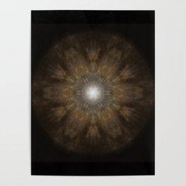 Clouded Coffee Mandala Poster