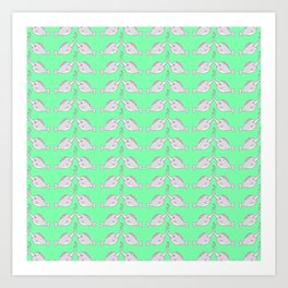 Narwhal and friends Art Print