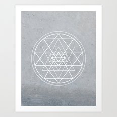 Sacred Geometry - Align At Your Center Art Print