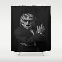 zombie Shower Curtains featuring Zombie  by Edouard Campos