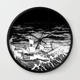 Galleon (line) Wall Clock