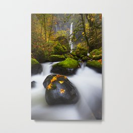 Elowah Falls Autumn Metal Print