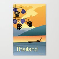 thailand Canvas Prints featuring Thailand by Shirong Gao