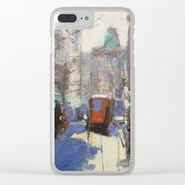 Milan Street Scene Clear iPhone Case