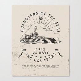 USS Texas Battleship, US Navy Canvas Print