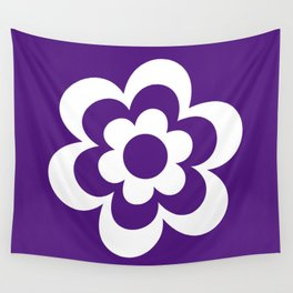 Purple And White Flower Wall Tapestry