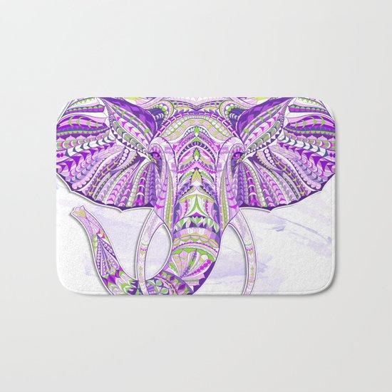 Purple Ethnic Elephant Bath Mat