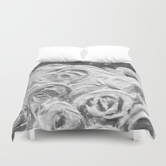 Roses on Fire In the Evening Rainbow Duvet Cover