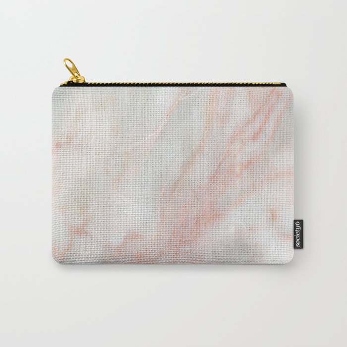 Softest blush pink marble Carry-All Pouch