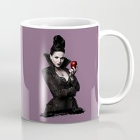 evil queen Mugs featuring The Evil Queen by Cursed Rose