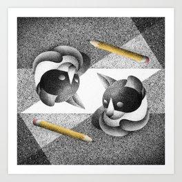 Drawing (Electric Catnip) Art Print
