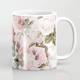 Vintage & Shabby Chic - Sepia Pink Roses Coffee Mug