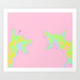 THE DOG IN ME IS BARKIN' Art Print