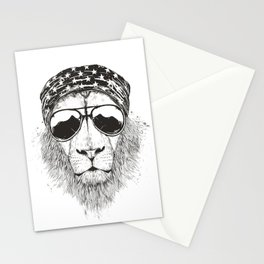 Wild lion Stationery Cards