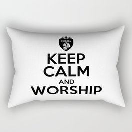 KEEP CALM AND WORSHIP Rectangular Pillow