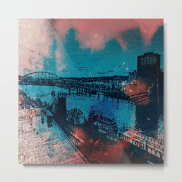 Abstract City Of Steel Metal Print