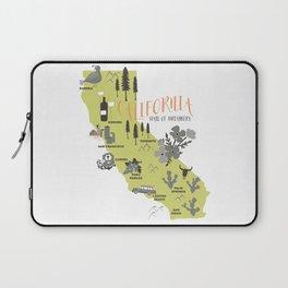 California Map Laptop Sleeve
