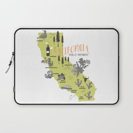 California Map Laptop Sleeve
