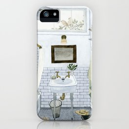 In The Bathroom iPhone Case