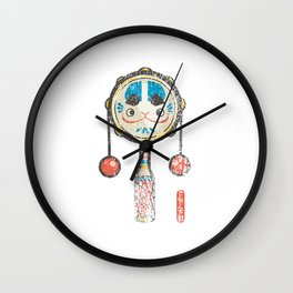 Den Den Daiko [Special Lucky Toy Box] Wall Clock