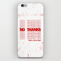 No Thanks iPhone & iPod Skin