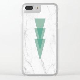 Marble Scandinavian Design Geometric Triangle Clear iPhone Case