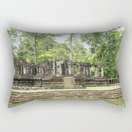 Pool & Structure of Baphuon Temple II, Angkor Thom, Siem Reap, Cambodia Rectangular Pillow