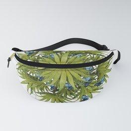 """El Bosco fantasy, tropical island blue butterflies 02"" Fanny Pack"