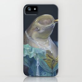 MADAME NARWHAL, by Frank-Joseph iPhone Case