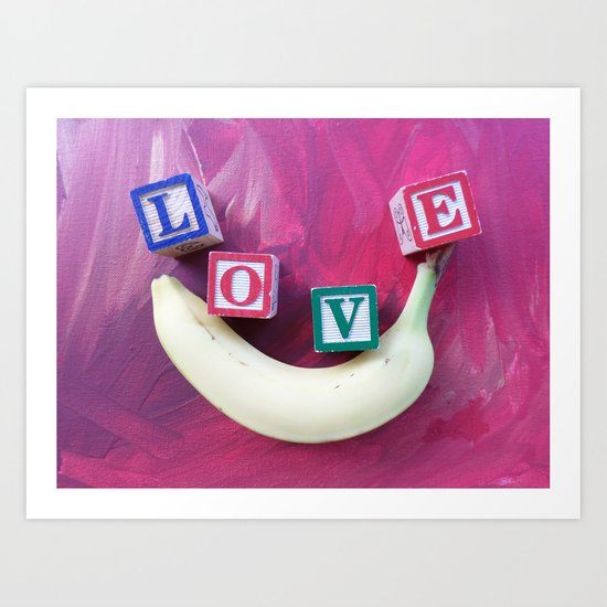 LOVE-B-SMILE-2 Art Print