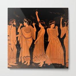 Club Life in Ancient Greece Metal Print