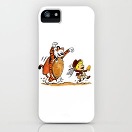Calvin and Hobbes Indiana iPhone Case