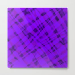 Bright metal mesh with violet intersecting diagonal lines and stripes. Metal Print