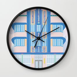 Miami Landmarks - Marlin Wall Clock