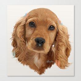 Golden Cocker Spaniel Pup Canvas Print