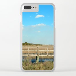 Salt Marsh View Clear iPhone Case