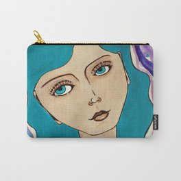 Blue Haired Girl Carry-All Pouch