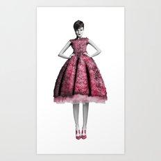 Textured dress Art Print