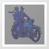 motorbike Art Prints featuring Motorbike  by marcusmelton
