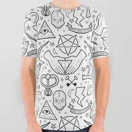 Illuminati Pattern All Over Graphic Tee