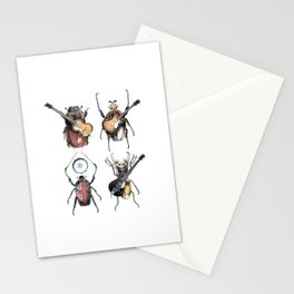 Meet the Beetles (white option) Stationery Cards