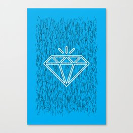 diamond cyan Canvas Print