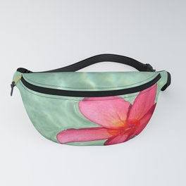 Floating Red Frangipani Fanny Pack