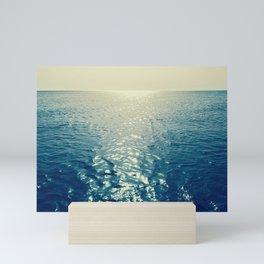 Infinite Water, Seascape Photography. Mini Art Print