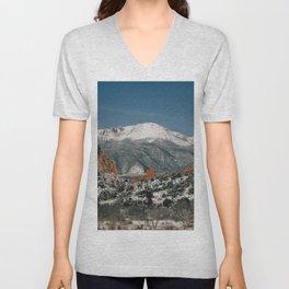 Snowy Mountain Tops Unisex V-Neck