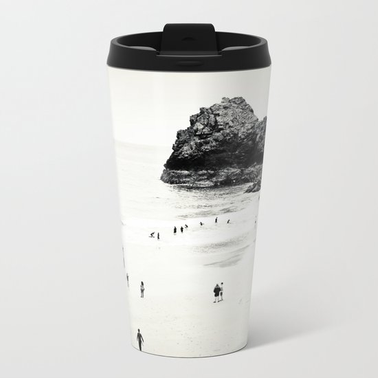 Cornwall beach life Metal Travel Mug