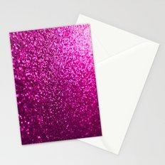 Pink Sparkle Glitter Stationery Cards