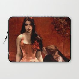 The Last Temptress female romantic portrait painting by Charles Hermans Laptop Sleeve