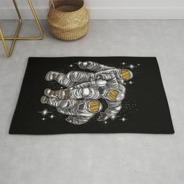 Wild Rugby Astronauts Fights For Victory Rug