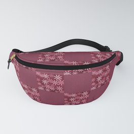HOMESPUN ruby red modern floral quilt pattern Fanny Pack